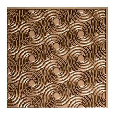 Cyclone - 2 ft. x 2 ft. Glue-up Ceiling Tile in Argent Bronze