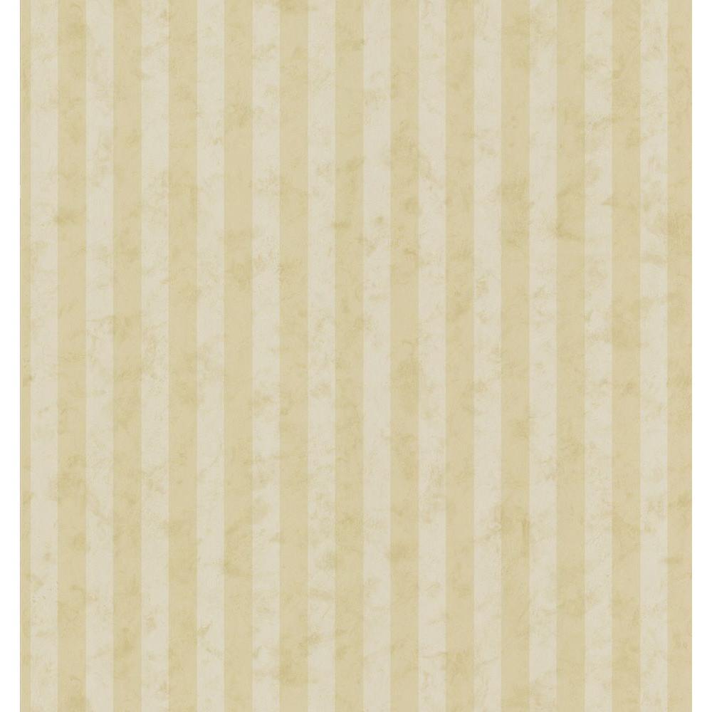 Kitchen Bath Bed Resource III Gold Tonal Stripe Wallpaper Sample
