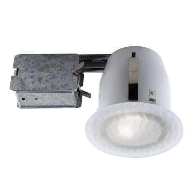 100 Series 5 in. White Recessed Halogen Damp Locations Light Fixture Kit