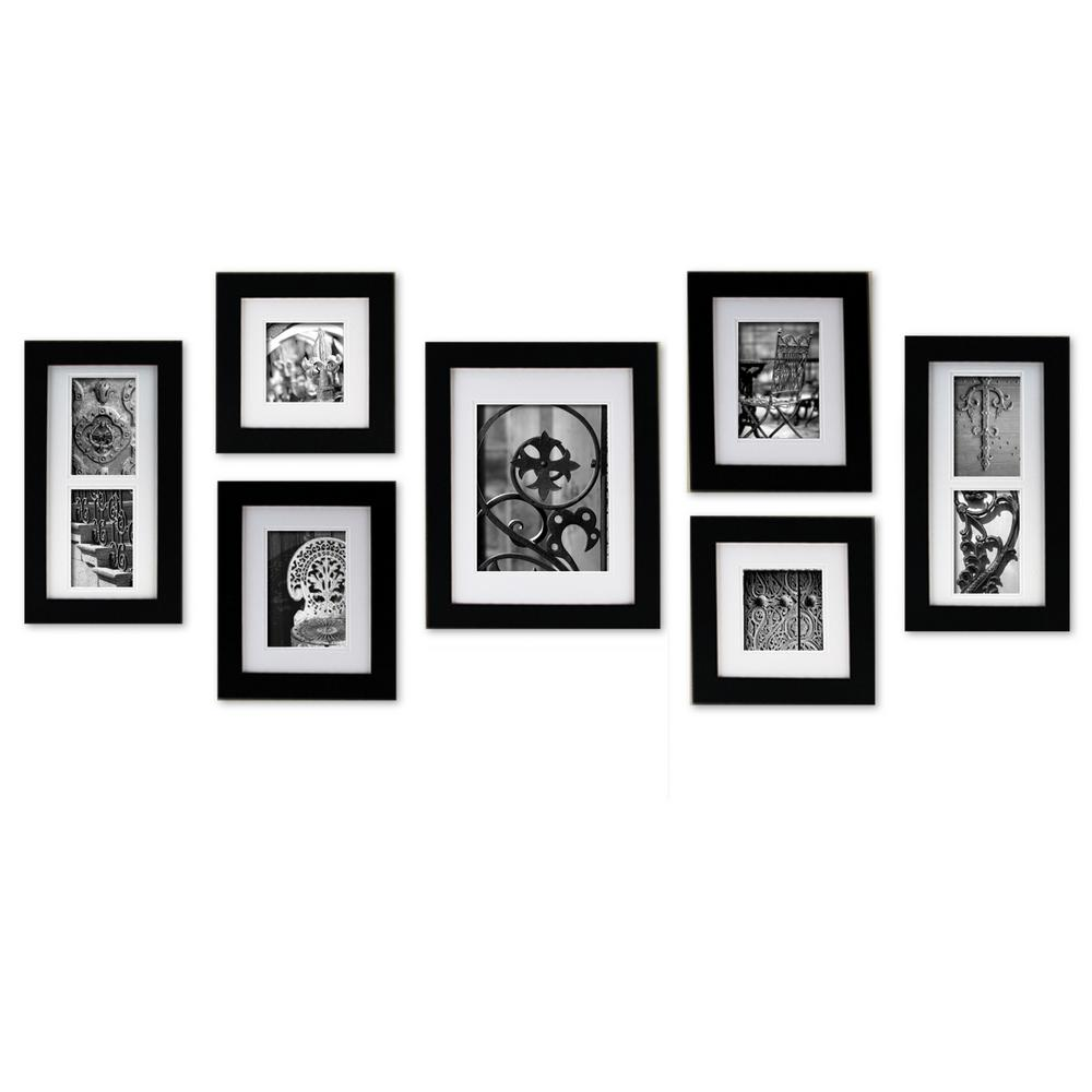 Pinnacle 7-Opening 4 in. x 6 in. Matted Picture Frame