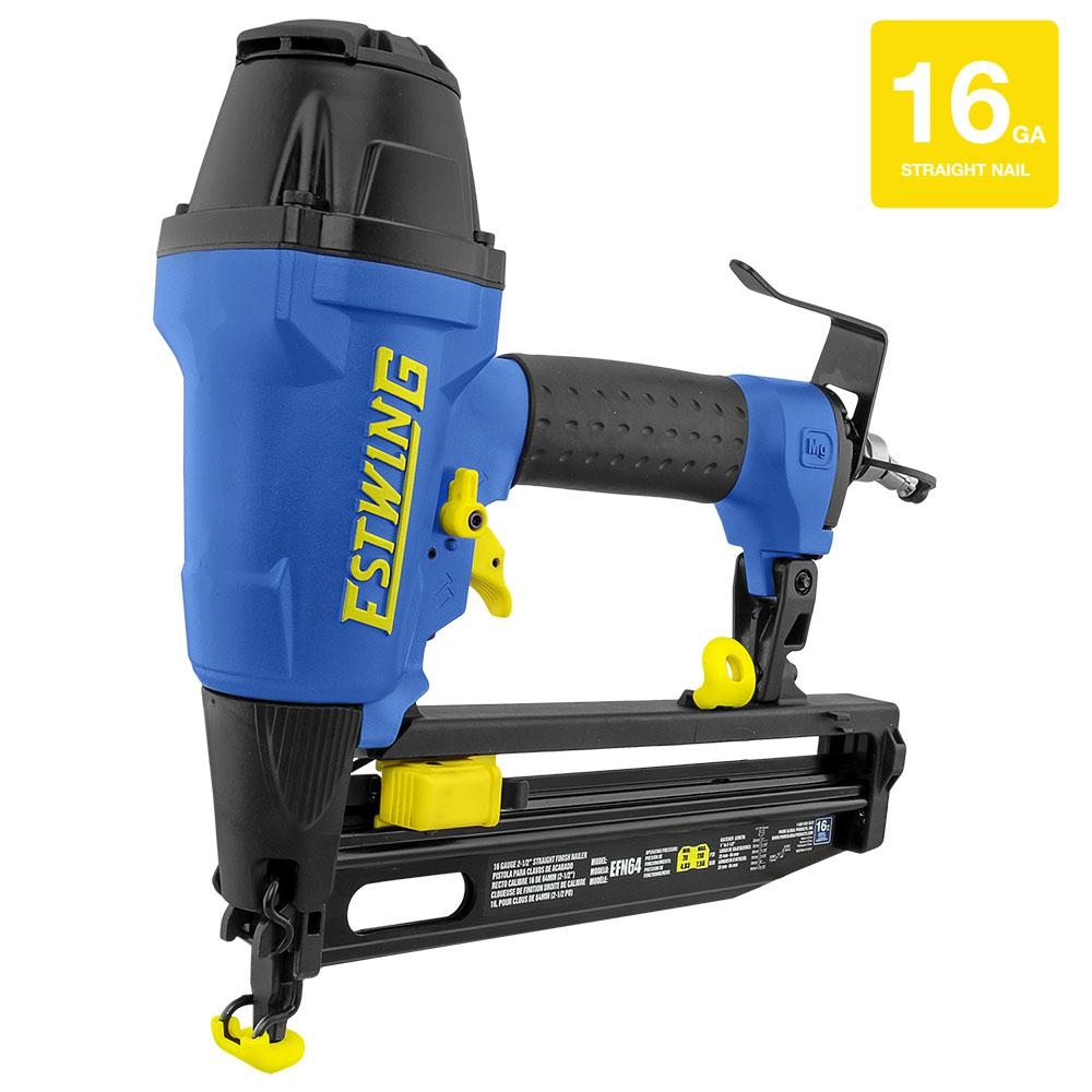 Estwing Pneumatic 2-1/2 in. 16-Gauge Straight Finish Nailer with Canvas Bag