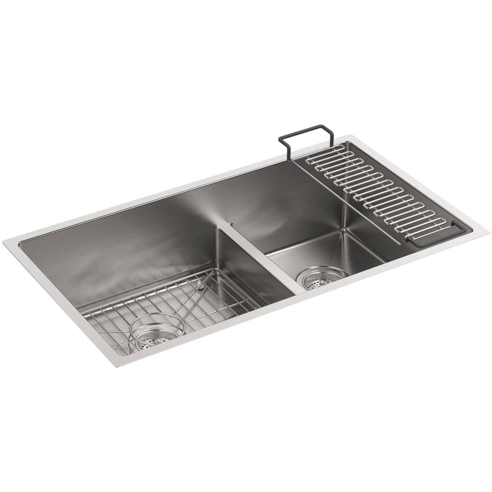 koehler kitchen sinks kohler strive undermount stainless steel 32 in 3595