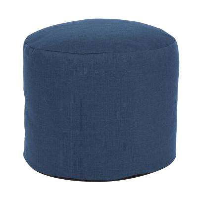 Tall Pouf Sterling Indigo Blue Ottoman