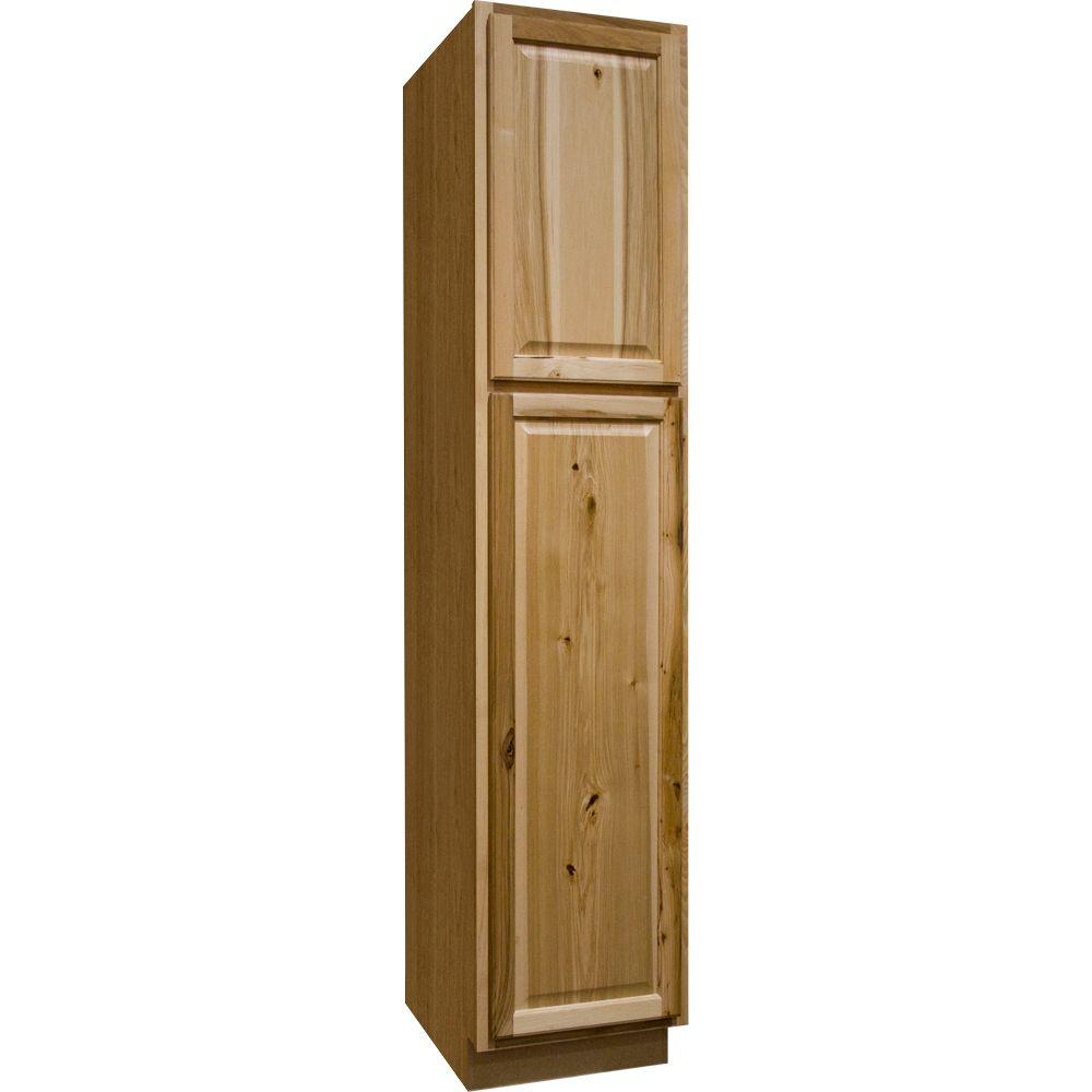 Hampton bay hampton assembled 18 x 84 x 24 in pantry for Assembled kitchen units