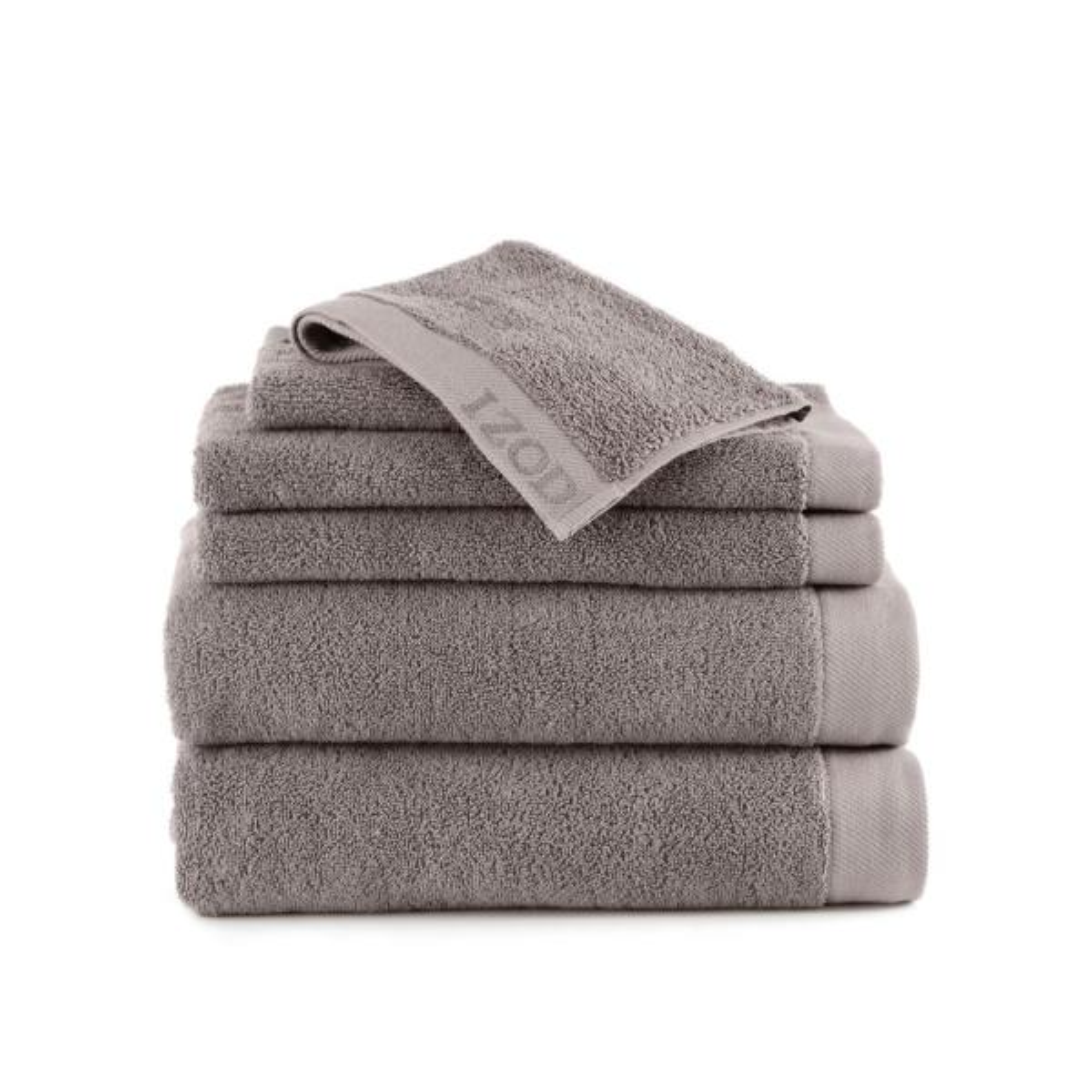 IZOD Classic 6-Piece Cotton Bath Towel Set in Wet Weather 079465022476