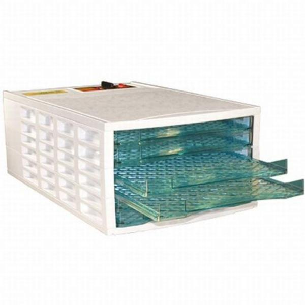 6-Tray White Food Dehydrator with Temperature Control