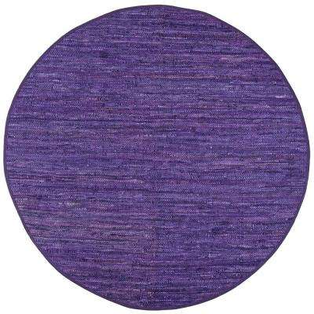Leather Matador Purple 3 ft. x 3 ft. Round Area Rug