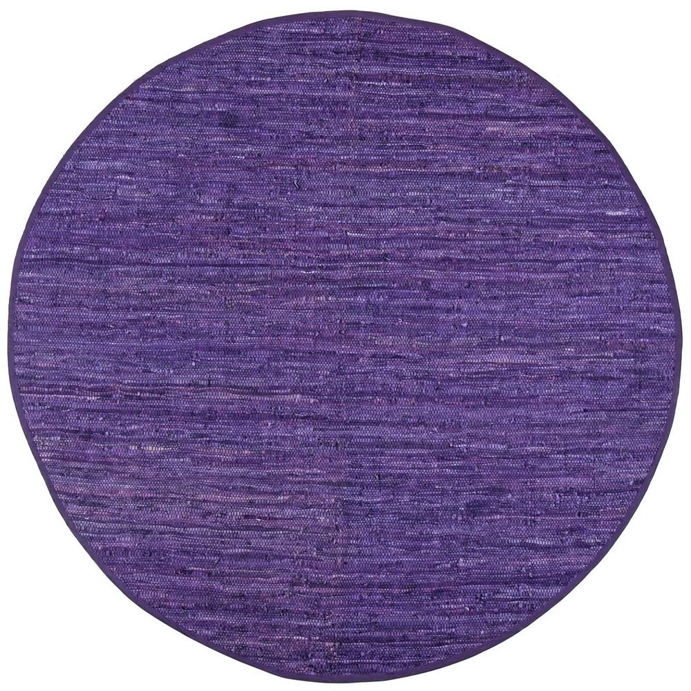 Xl Purple Rug: MATADOR Leather Matador Purple 8 Ft. X 8 Ft. Round Area