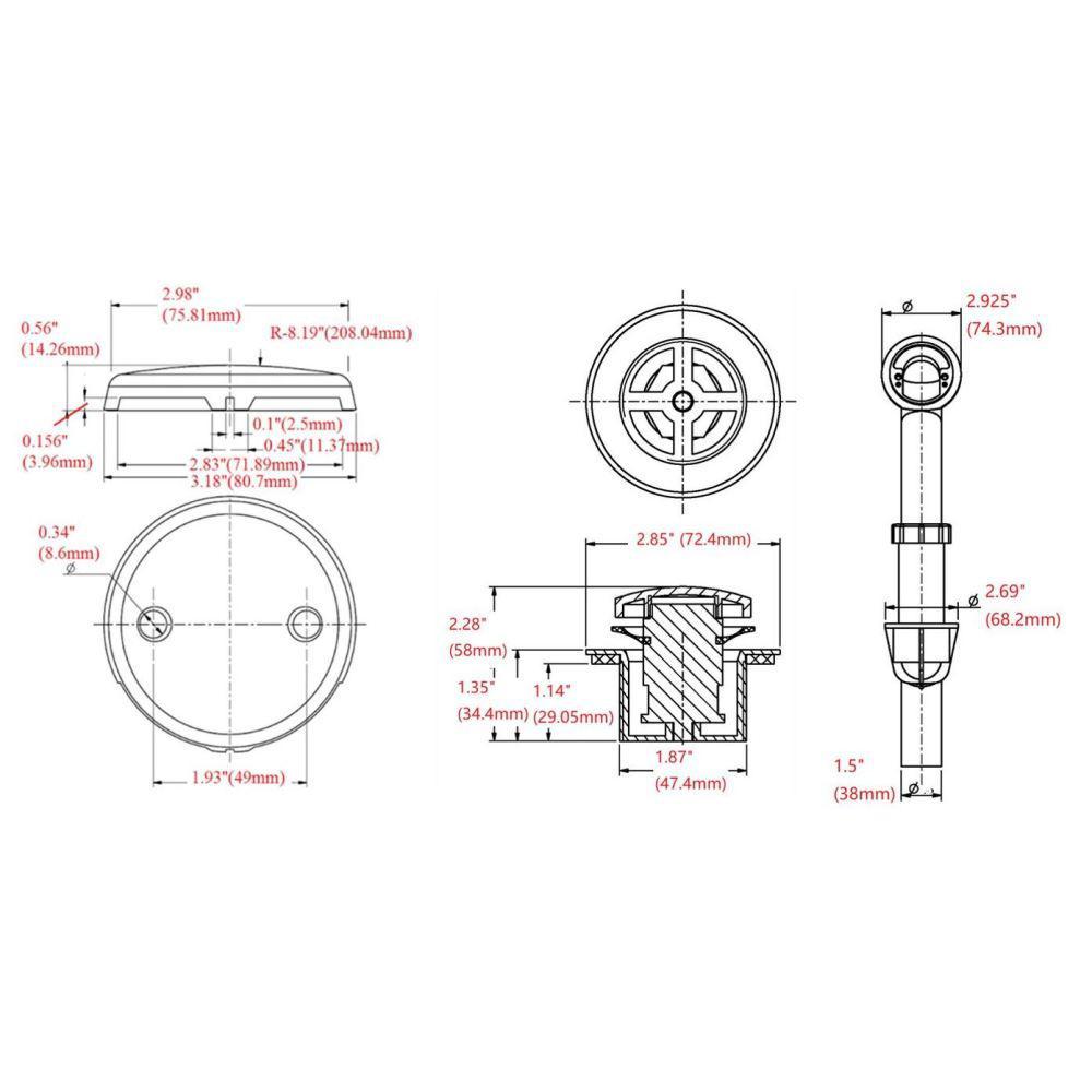 Satin Nickel HI Design House 522706 Toe Tap Bath Drain Kit Design House
