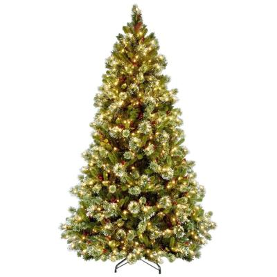 7-1/2 ft. Wintry Pine Medium Hinged Artificial Christmas Tree with 650 Clear Lights