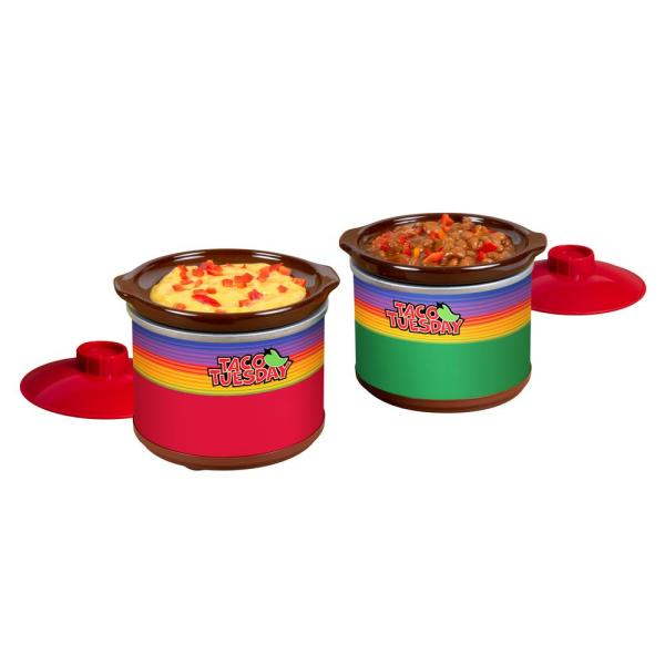 .65 Qt. Red and Green Slow Cooker with Removable Pot
