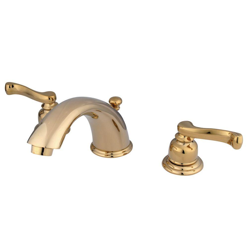 Kingston Brass 8 In Widespread 2 Handle Mid Arc Bathroom Faucet In