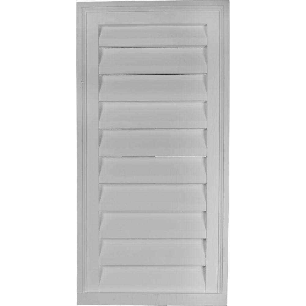 Ekena Millwork 2 in. x 18 in. x 36 in. Functional Vertical Gable Louver Vent
