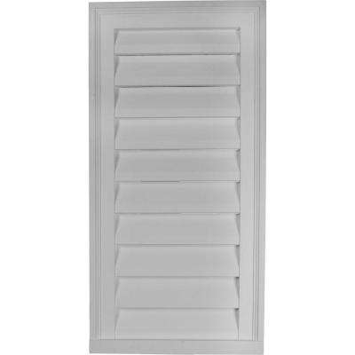 2 in. x 18 in. x 36 in. Functional Vertical Gable Louver Vent