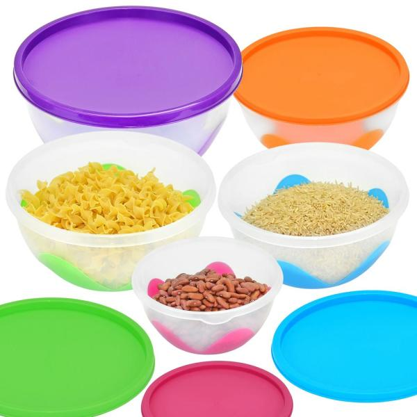 5 Piece Multi Purpose Nested And Stackable Bowl/Food Storage Containers