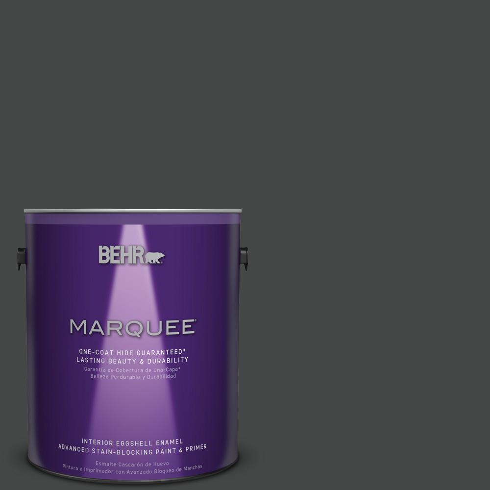 1 gal. #PPU26-23 Black Boudoir Eggshell Enamel Interior Paint