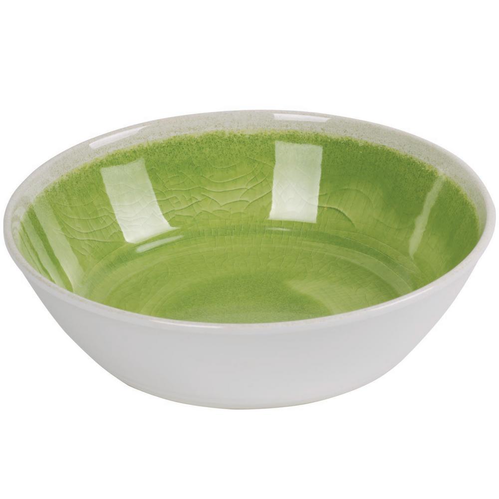 Raku Green Bowl