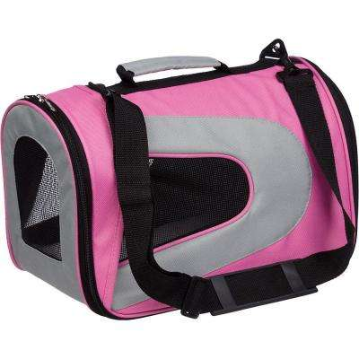 Airline Approved Pink Sporty Folding Zippered Mesh Carrier - Medium