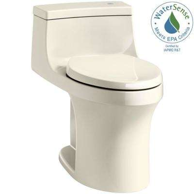 San Souci Touchless Comfort Height 1-Piece 1.28 GPF Single Flush Elongated Toilet with AquaPiston Flush in Almond