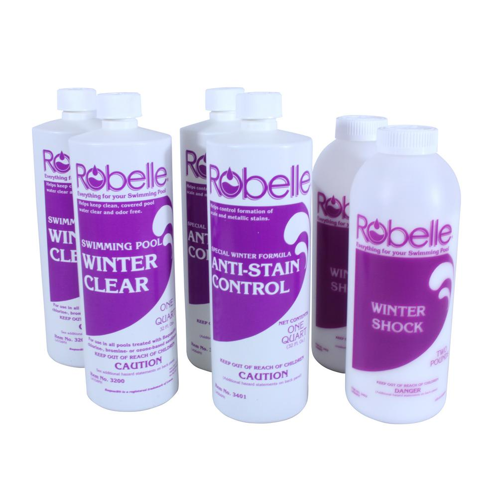 Robelle Triple-Action 30,000 Gallon Swimming Pool Winter Closing Chemical  Kit