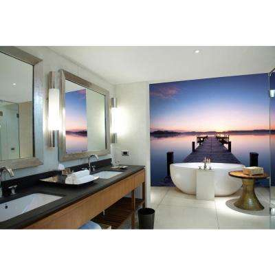 100 in. x 144 in. Pier at Sunrise Wall Mural