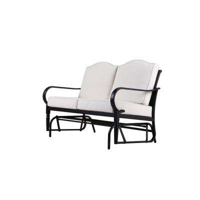 Laurel Oaks Dark Brown Steel Outdoor Glider With Cushions Included Choose Your Own Color
