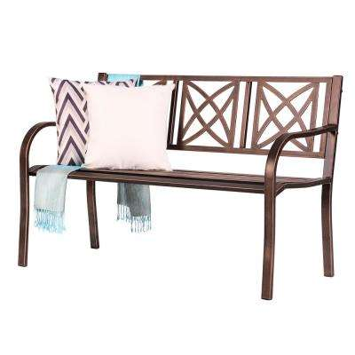 Paracelsus 50 in. Metal Outdoor Bench