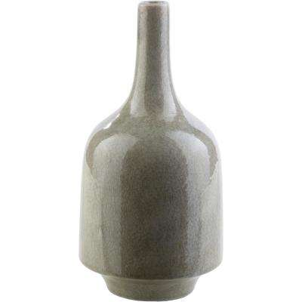 Lynette 12 in. Olive Ceramic Decorative Vase