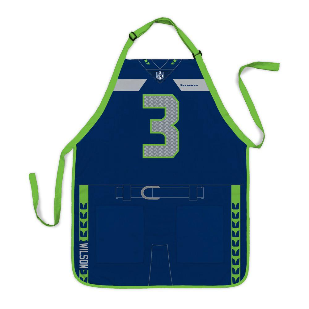 Party Animal Russell Wilson Seattle Seahawks NFL Jersey Apron
