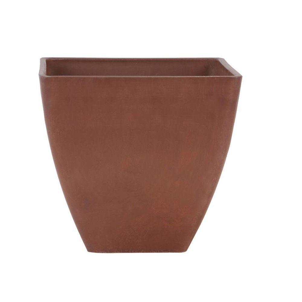 Simplicity Square 16 in. x 16 in. x 13 in. Terra Cotta PSW Pot