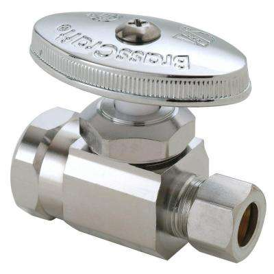 1/2 in. FIP Inlet x 3/8 in. O.D. Compression Outlet Multi-Turn Straight Valve