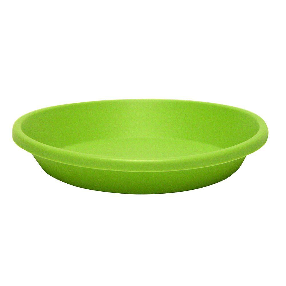 Newbury 14 in. Lotus Green Poly Saucer