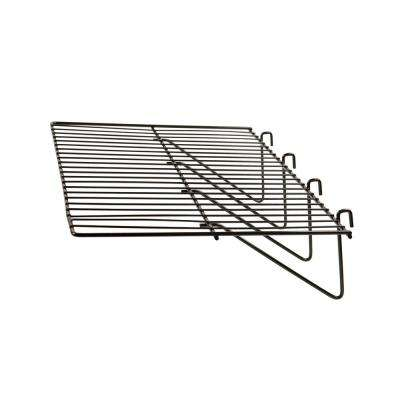 23-1/2 in. W x 12 in. D Black Straight Wire Shelf (Pack of 6)
