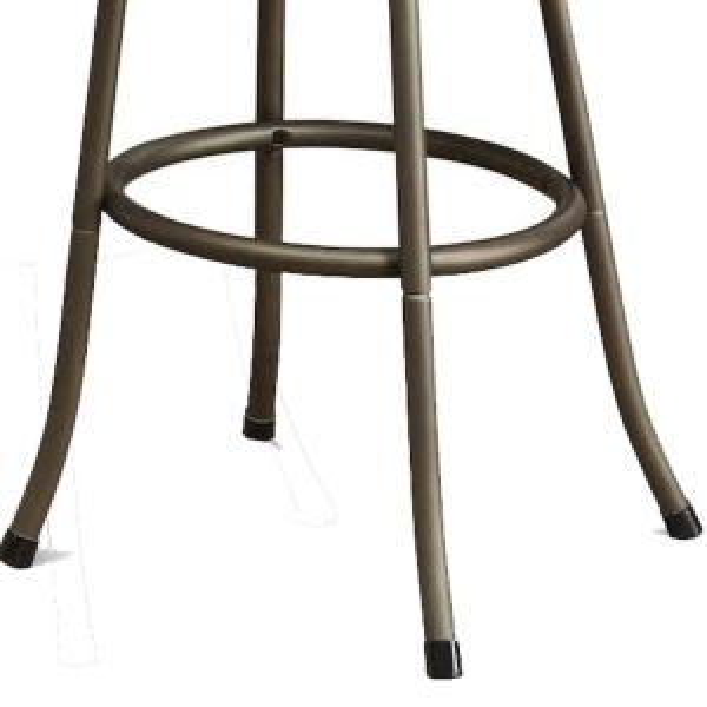 Brilliant Benjara Stunning Metal And Microfiber Gold Cushion Swivel Dailytribune Chair Design For Home Dailytribuneorg