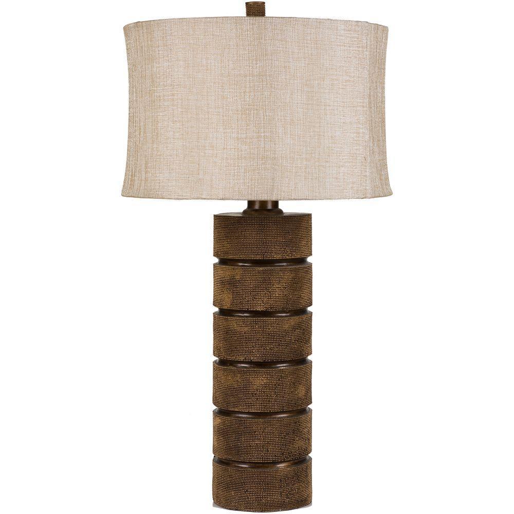 Hertzano 31 in. Aged Bronze Indoor Table Lamp