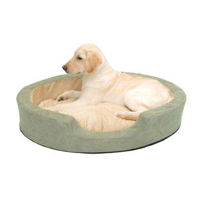 Thermo-Snuggly Sleeper Large Sage Heated Dog Bed