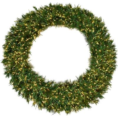 48 in. Pre-Lit Artificial Christmas Wreath with Special Lighting Effects