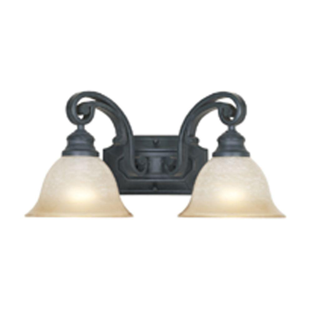 Monte Carlo 2-Light Natural Iron Wall Light