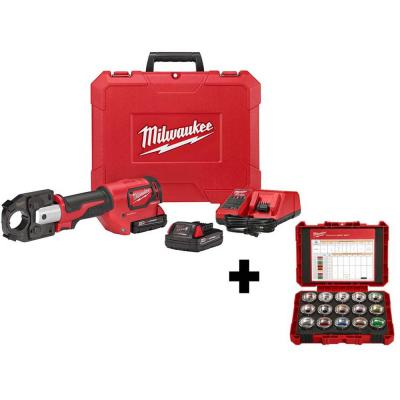 M18 18-Volt Lithium-Ion Cordless Force Logic 600 MCM Crimper Kit with 600 MCM Copper U-Style Die Kit