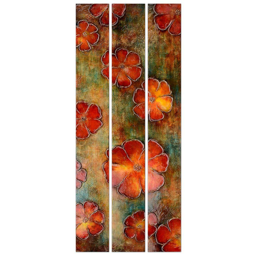 Yosemite Home Decor 24 in. x 59 in. Floral Fascination Hand Painted Contemporary Artwork -DISCONTINUED