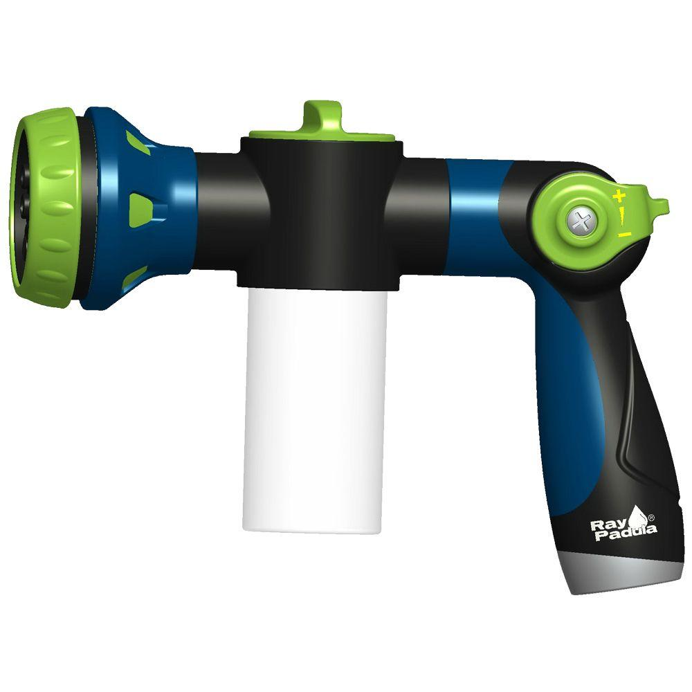 Thumb Control Cleaning Dispensing 8-Pattern Hose Nozzle