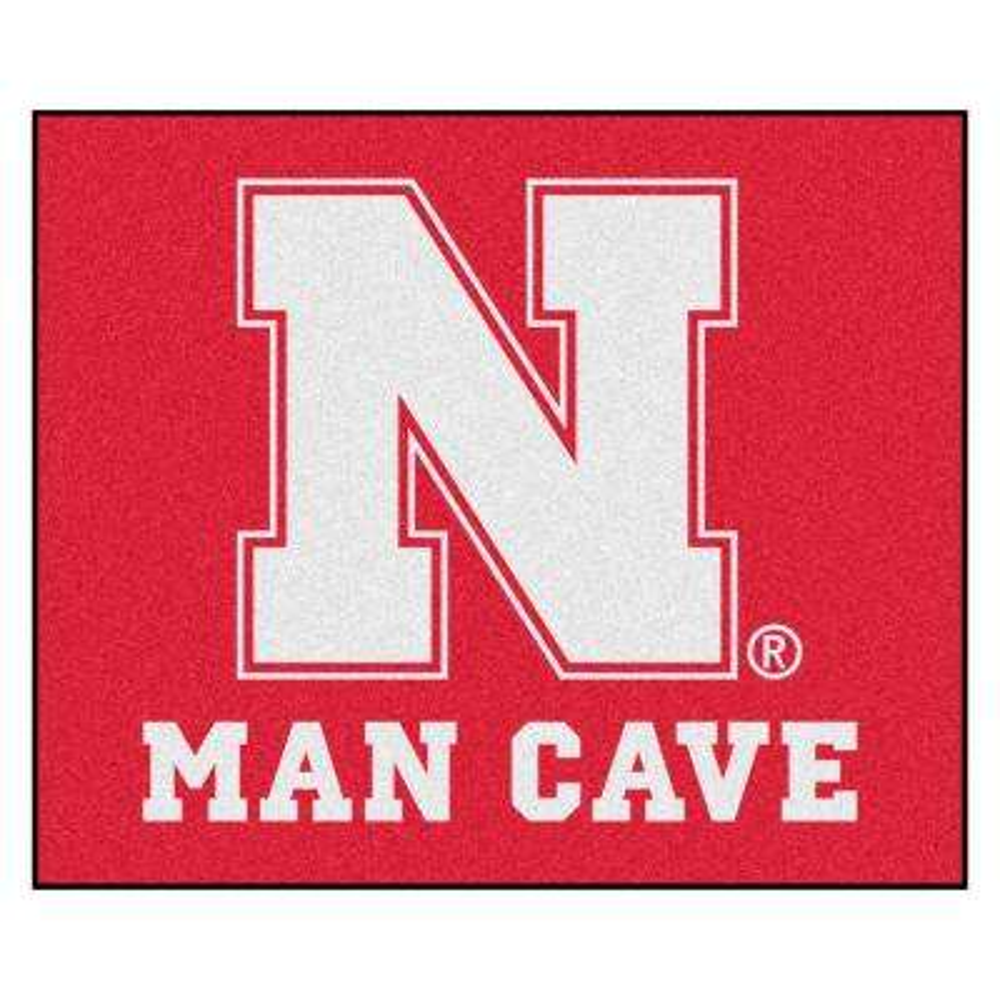 University of Nebraska Red Man Cave 5 ft. x 6 ft. Area Rug