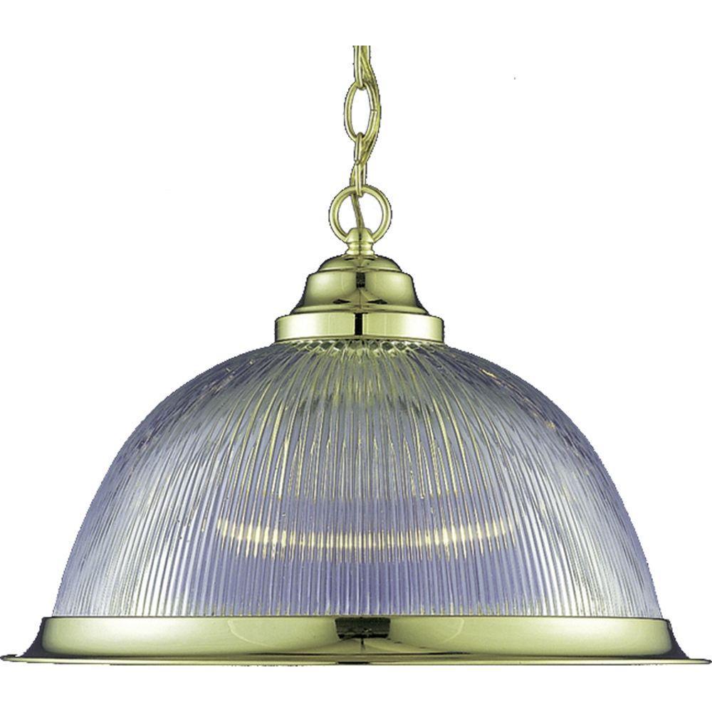 Volume Lighting Marti 1 Light Polished Brass Interior Pendant V1800 2 The Home Depot