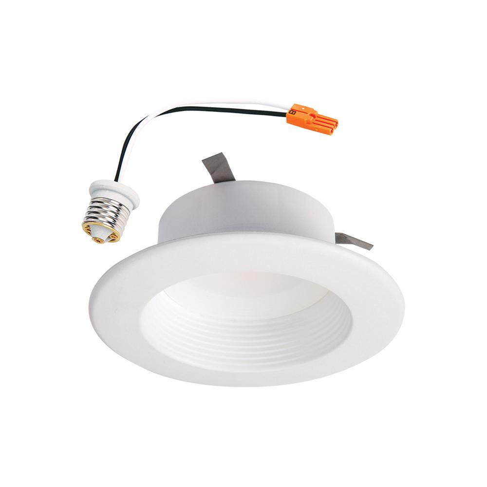 Halo RL 4 in. White Wireless Smart Integrated LED Recessed Ceiling Light Fixture Trim with Selectable Color Temperature