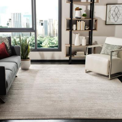 Adirondack Ivory/Silver 9 ft. x 9 ft. Square Area Rug