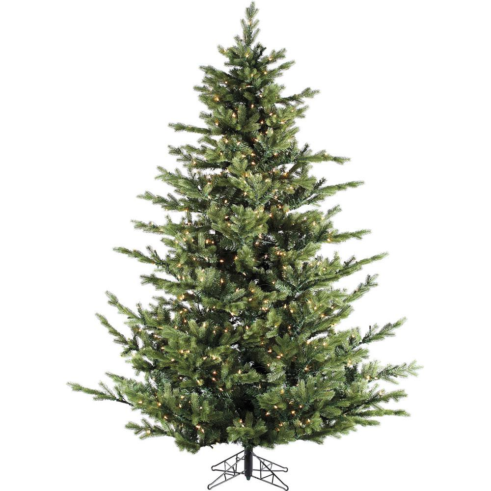 12.0 ft. Pre-lit LED Foxtail Pine Artificial Christmas Tree with 2100