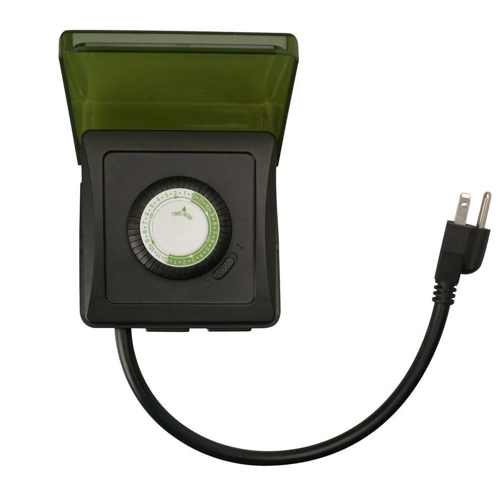 Outdoor Plug In Heavy Duty Dual Outlet