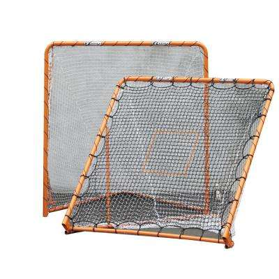 6 ft. x 6 ft. Folding Metal Lacrosse Goal with Throwback Kit