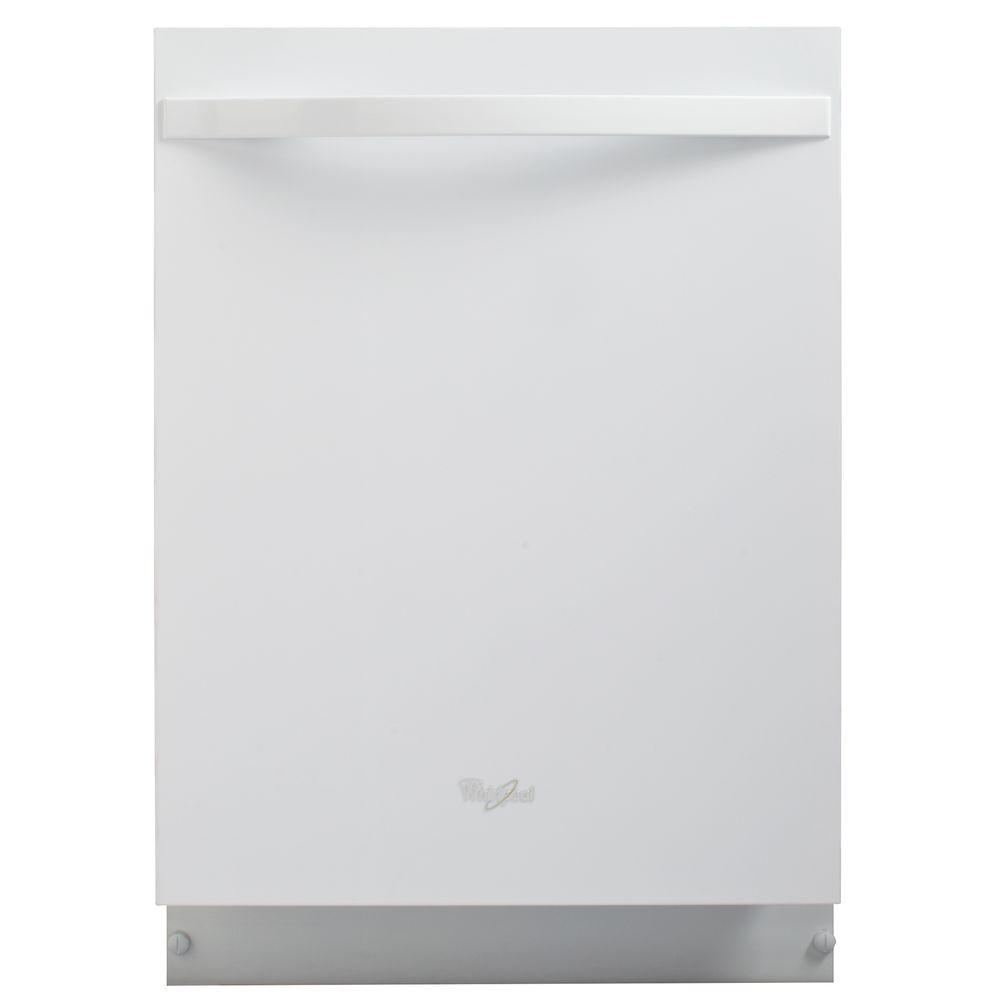 Whirlpool Gold Top Control Dishwasher in White with Stainless Steel Tub