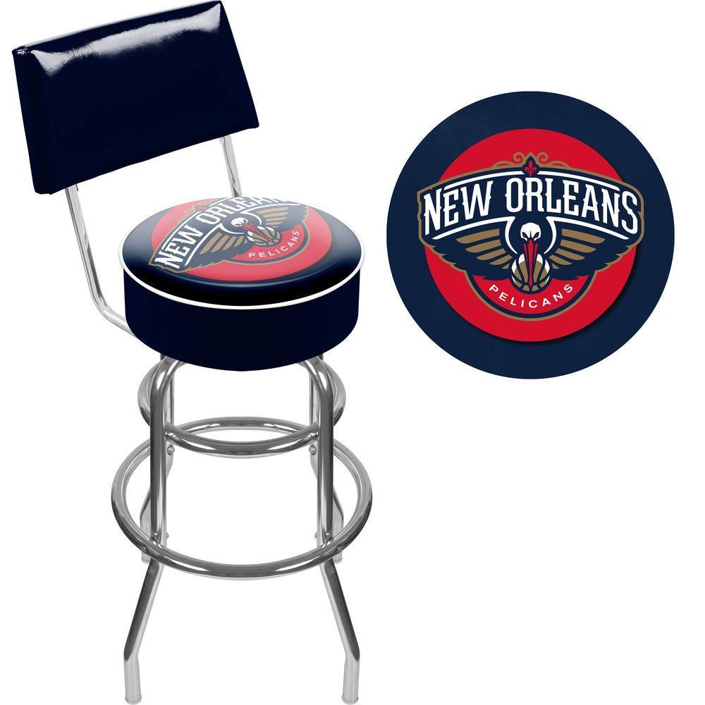 New Orleans Pelicans NBA 31 in. Chrome Padded Swivel Bar Stool